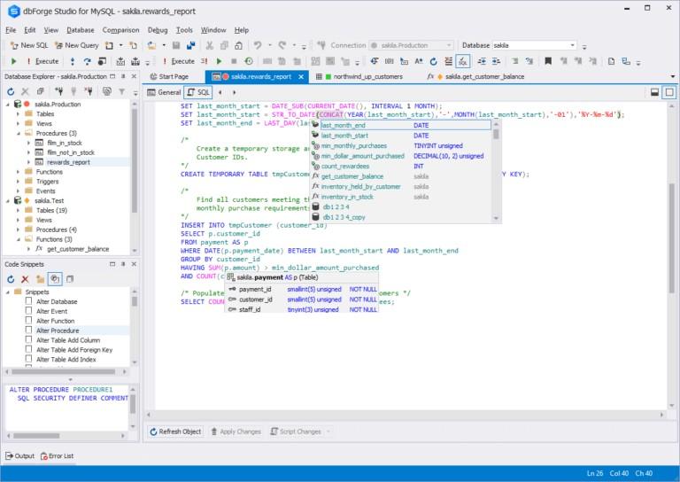 dbForge Studio Enterprise MySQL Full